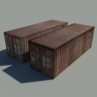 Cargo Container Low Poly