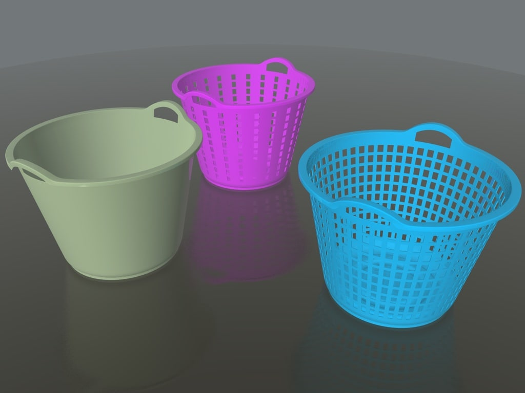3d laundries basket solidworks model