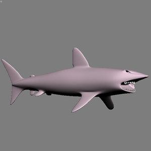 shark polygons 3d model