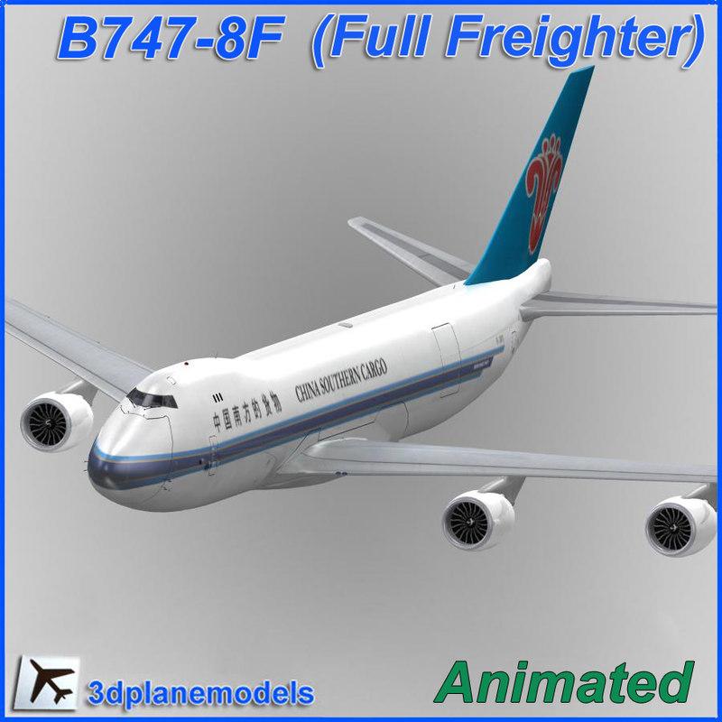 3d b747-8 china southern cargo