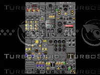 b727 second officer panel 3d model
