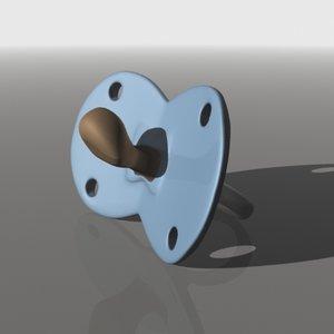 3d pacifier binky model