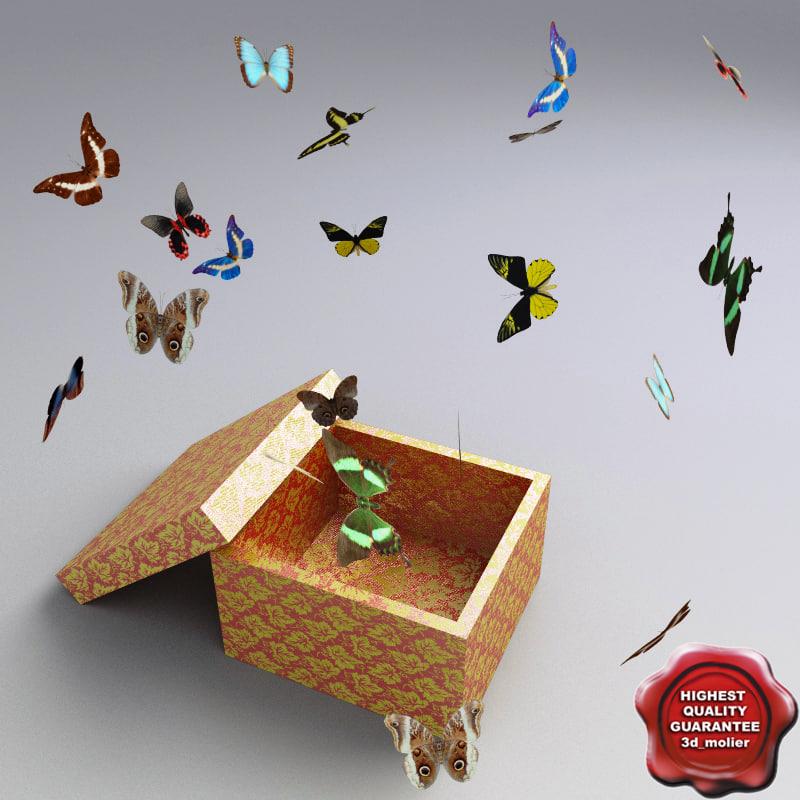 3d butterfly box