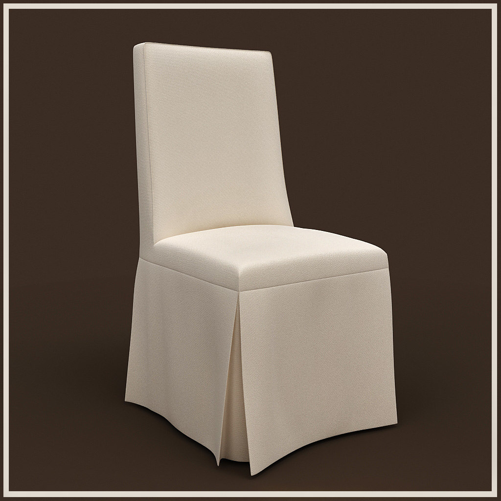 dining chair covers 3d max