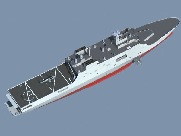 chinese navy type071 3d 3ds