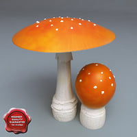 lwo fly-agaric modelled
