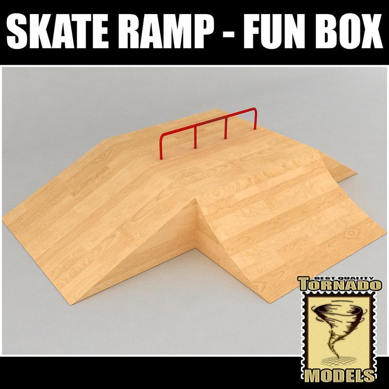 3d skate ramp - fun model