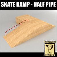 3d model skate ramp - fun