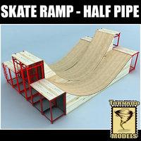 Skate Ramp - Half Pipe 03