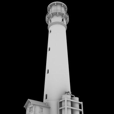 3d light house lighthouse