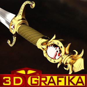 3d model sword longsword