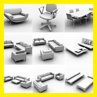 3d furniture lot