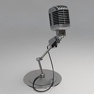 old microphone 3d max