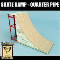 skate ramp - quarter 3d 3ds