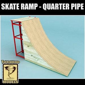 skate ramp - quarter 3d 3ds
