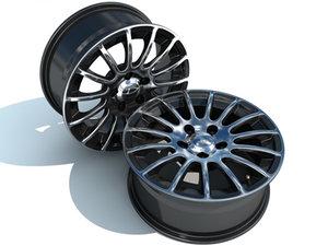 cinema4d 15 spoke alloy wheel