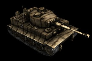 german tiger tank 3d obj