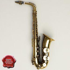 3d model saxophone details modelled