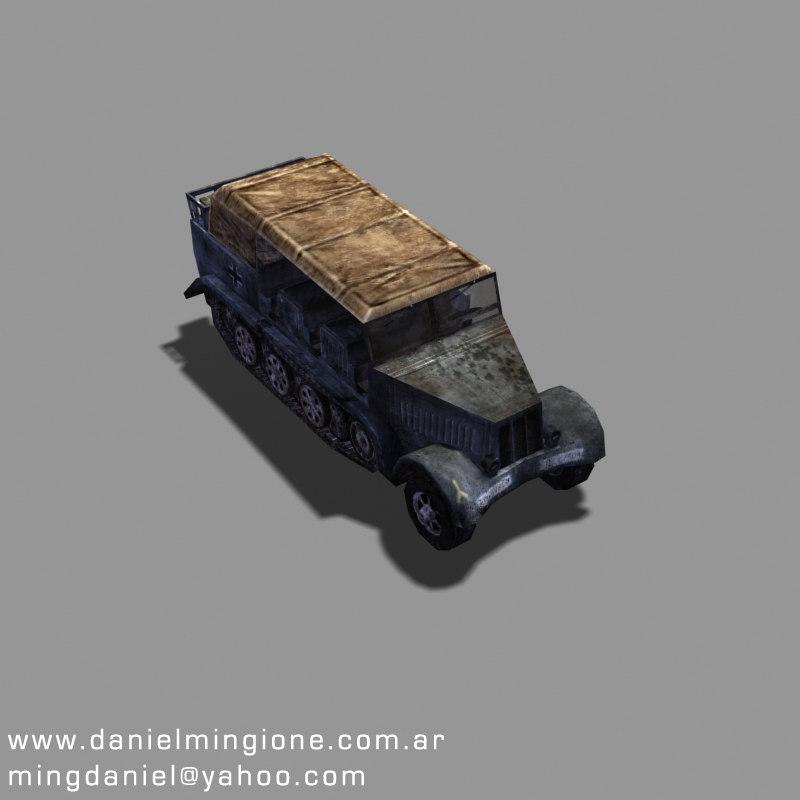 sdkfz transport 3d model