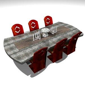 3d modern dinning table