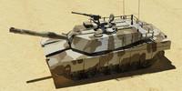 3d m1a1 tank model