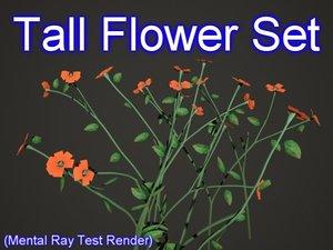set tall flowers max