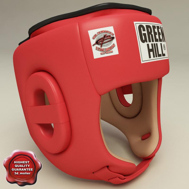 3d model of training boxing helmet