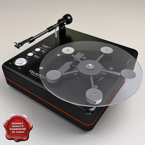 turntable vestax guber cube-t 3d model