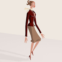3d cartoon woman man