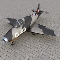 3d airplane g-40 model