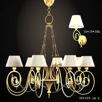 baga classic chandelier 3d max