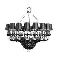 baga progress classic 3264 shades black crystal chandelier