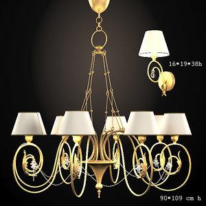 baga classic chandelier 3d max