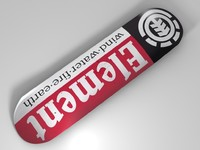 3d model element skateboard deck