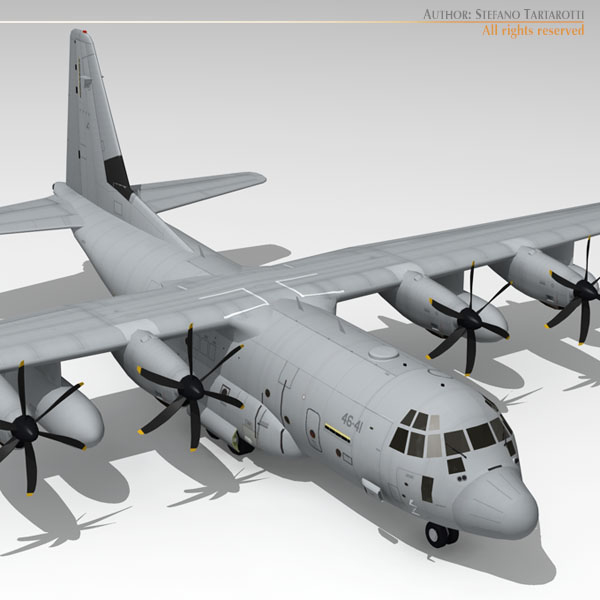 3ds max c-130j hercules c-130 j
