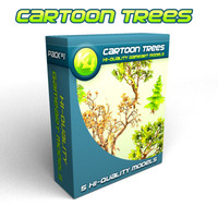 free obj mode cartoon trees