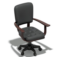 3d obj leather swivel chair