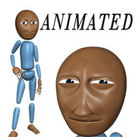 rigged cartoon character 3d model