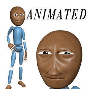 rigged cartoon character 3d model