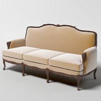 classical classic sofa curved back
