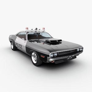dodge challenger police 3d max