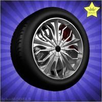 3d model of car wheel