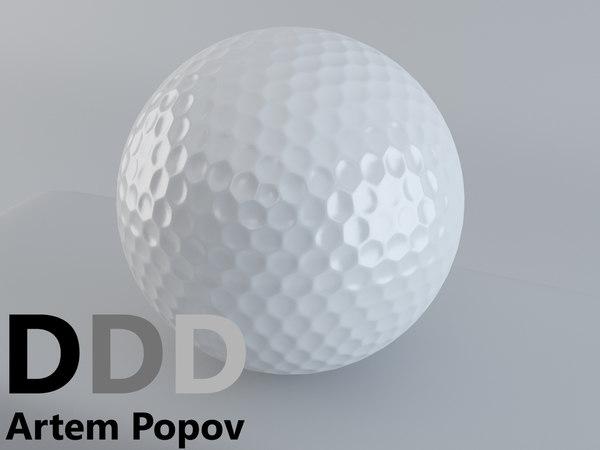 golf ball 3d max
