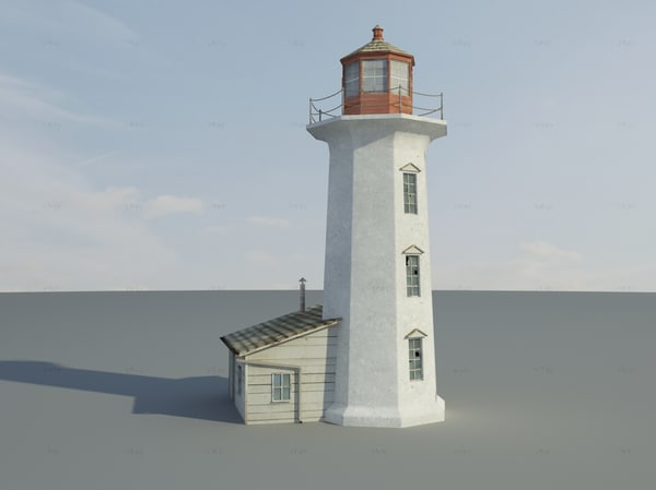 3d model rustic lighthouse