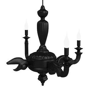 mooi smoke chandelier 3d model