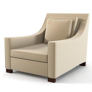 3d donghia chair modern model