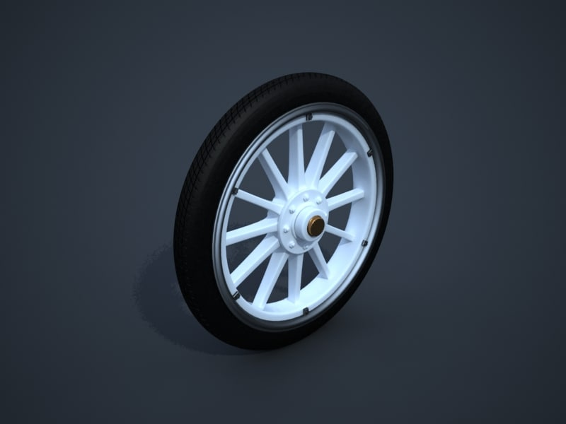 maya oldtimer car wheel