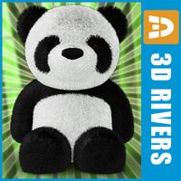 toy panda 3d model