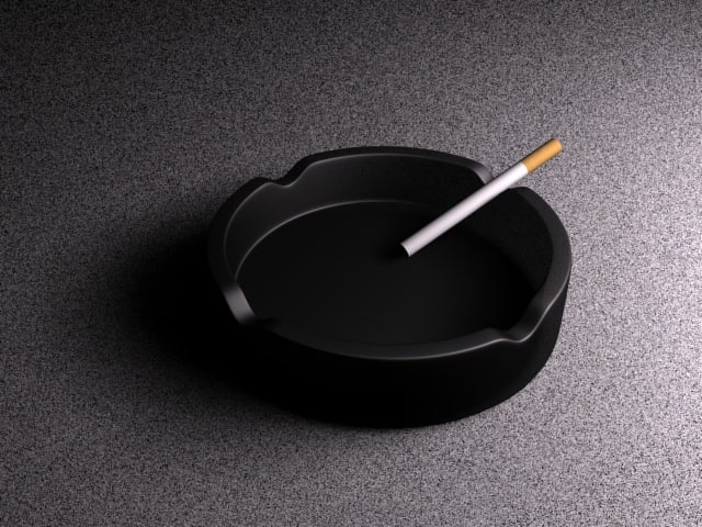 ashtray cigarette 3d max