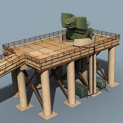 3dsmax radar towers sa-5